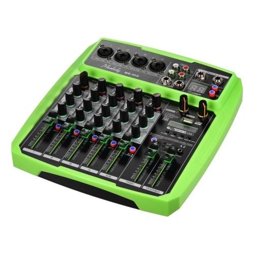 Muslady B6-MX Портативный 6-канальный микшерный пульт для звуковой карты Аудиомикшер