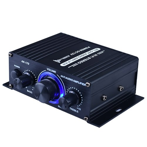 AK170 Mini Audio Leistungsverstärker Tragbarer Lautsprecherverstärker für Auto und Privat