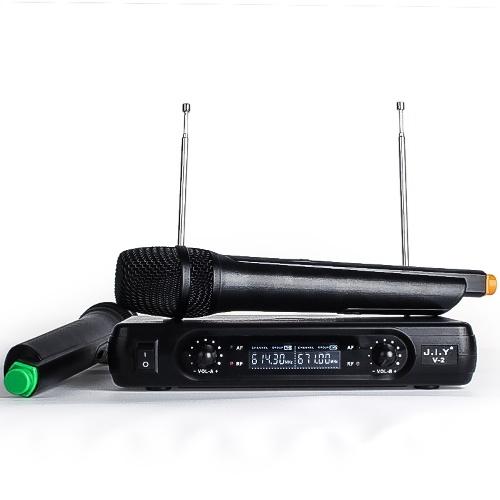 Grand système de microphone sans fil de stabilité de jeu de microphone de poche sans fil de réception avec écran LCD