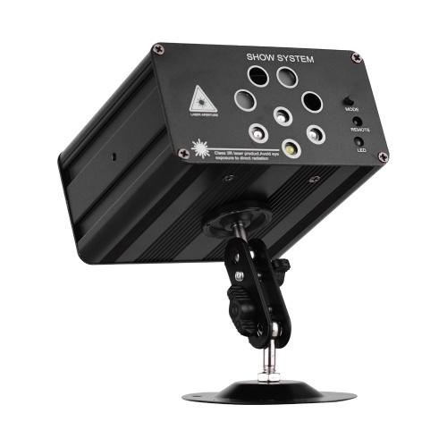 ammoon IGB-T813 Aurora Strobe Bühnenlicht 128 Kombinationen 8 Löcher RGBW Sound aktiviert