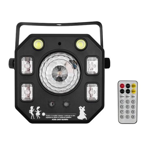 LED-Projektionslampe Bühnenlichtton Aktiviert mit U-förmiger Grifffernbedienung für Party Bar Bühnenhochzeitsdekoration