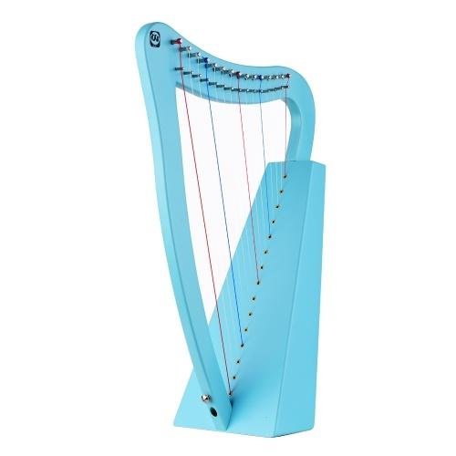 Walter.t 15-String Lyre Harp Wooden String Instrument