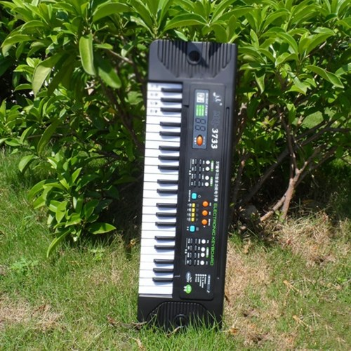 44 Keys Electronic Piano Multifunctional Electronic Organ Musical Instrument Toy with Microphone for Children Boys Girls Beginners