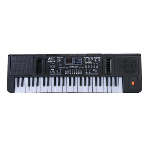 49 teclas, piano electrónico, órgano electrónico multifuncional, instrumento musical, juguete con micrófono de juguete para niños, niñas, principiantes