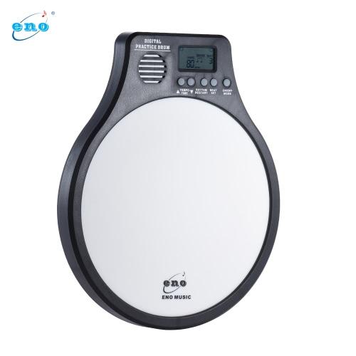 ENO DEM-40メトロノーム/カウント/速度検出モードホワイトと1携帯用電気デジタル練習ドラムパッドで多機能3