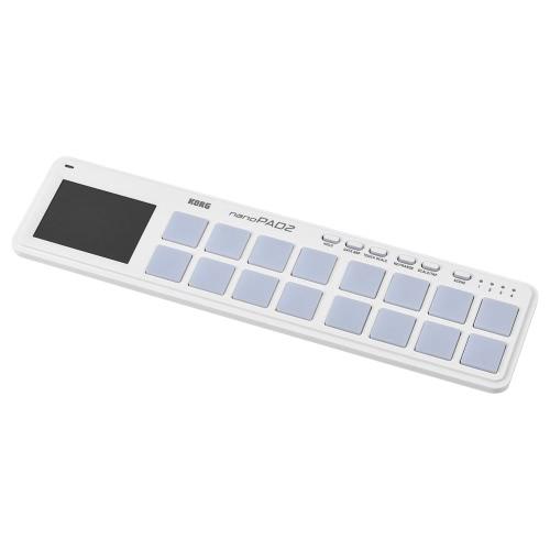 KORG nanoPAD2スリムラインポータブルUSB MIDIパッドコントローラーUSBケーブル付き16トリッパーパッド