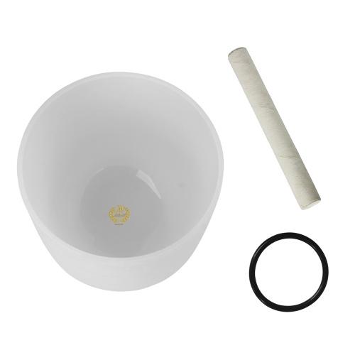 10-дюймовый кристаллический пение Bowl G Примечание с кольцом для кольца и резинового кольца для создания музыки Музыкальное исцеление Медитация Йога Домашнее оформление офиса