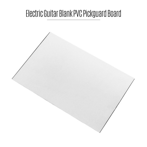 3Ply Construction Electric Guitar Blank Pickguard Board Scratch Plate PVC DIY Customed Guitar Parts White