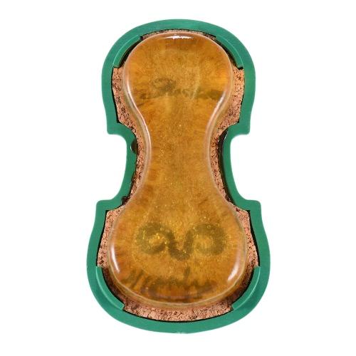 High-Class Transparent Gelb Rosin Colophony Low Staub Handmade mit Violin-förmigen Plastikkasten Universal-für Violine Viola Violoncello Erhu Streichmusikinstrumente