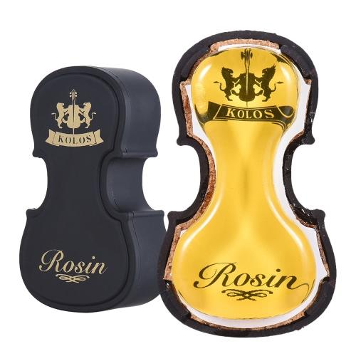 曲がった文字列楽器ヴァイオリンヴィオラチェロ二胡のためのヴァイオリン・形状のプラスチックボックスユニバーサルとのハイクラストランスペアレントイエローロジンコロフォニー低ダスト手作り