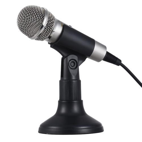 TRANShine PC-309ミニボーカル/楽器マイクポータブルハンドヘルドカラオケ歌唱録音マイクスタンドブラケットホルダーiPhone用AndroidスマートフォンPC携帯電話ラップトップノートブック