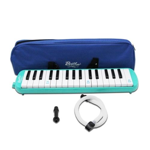 Piano Style 32 teclas Melodica Niños Estudiantes Principiantes Instrumento musical Armónica Órgano de boca Armónica portátil Pianica