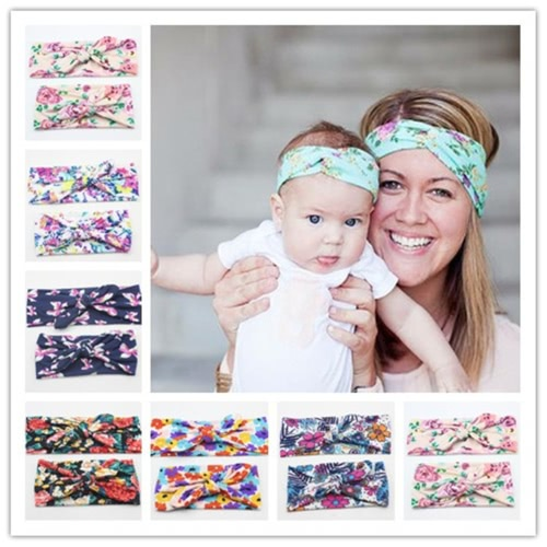 12 Pcs New Fashion High Quality Headbands Baby Girl Elasticity Hair bows Accessories for Newborn Kids Girls Infant
