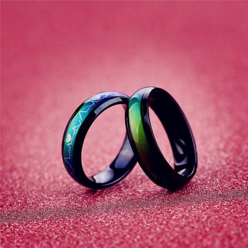 Anillo de humor creativo europeo de la emoción del color de la vendimia que cambia el anillo de la personalidad para el regalo del partido de los amantes de los pares de las mujeres de los hombres