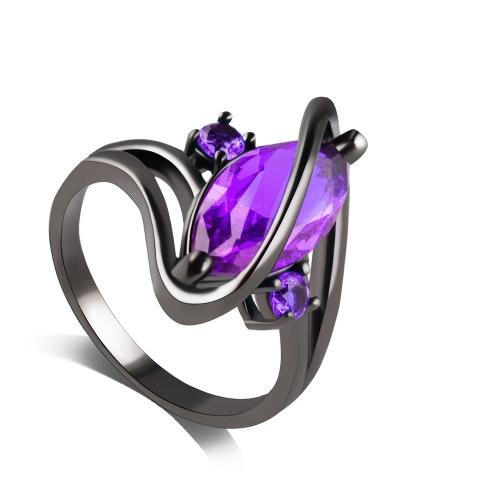 Marquesa romántica mujeres elegantes corte pequeño Zafiro incrustado Zircon Twist Finger Ring Wedding