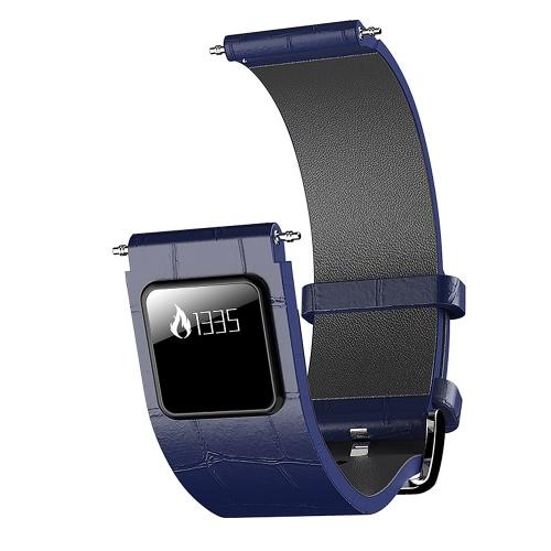 H1 de lujo de cuero genuino banda de reloj de 20 mm