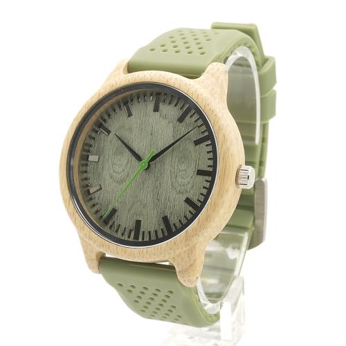 BOBOBIRD Moda Simple Bamboo Unisex Relojes Cuarzo Reloj de pulsera de madera Casual Hombres Mujeres