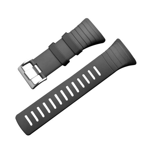Outdoor Waterproof Rubber Watch Band Men's Watch-strap Steel Buckle with Screwdriver for Suunto core