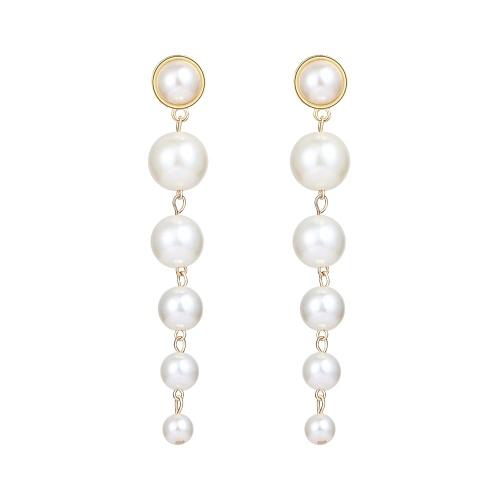 Mode Simple Grandes Petites Perles Pendentif Boucles D'oreilles Femmes Personnalité Tempérament Bijoux