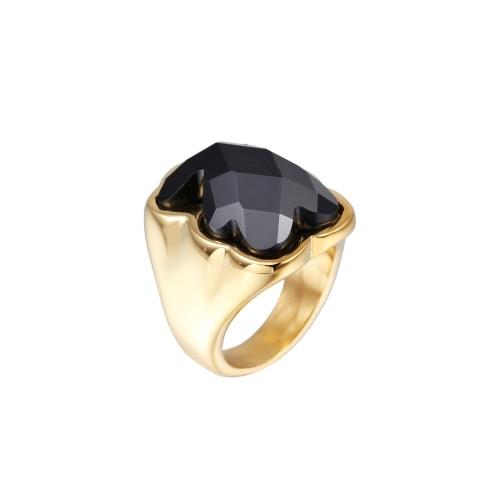 Little Bear anillo cristalino Artificial 316L titanio acero galjanoplastia del vacío las mujeres de moda joyas decoración