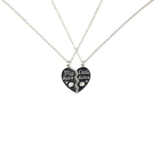 2 partes rotas collares colgantes en forma de corazón establecer con langosta corchete de la joyería fina personalizada regalo para mejor amigo 45cm