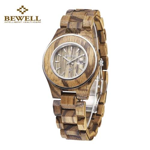 BEWELL New Style analogowy kwarcowy Light Weight Wood Watch Romantic jego i jej zegarki pary zegarki Mężczyźni Kobiety