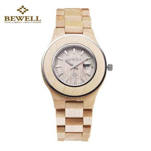 BeWell à moda lindo analógico Quartz Light Weight Hipoalergênico Madeira Assista Romântico Seu e dela Relógios Relógios Casal para mulheres dos homens