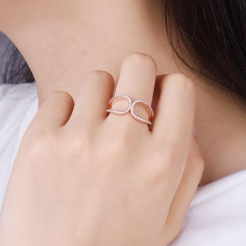 JURE 925 Серебряное кольцо Цирконий Свадебное обручальное кольцо Предложение Люкс Halo розовое золото Замена фото