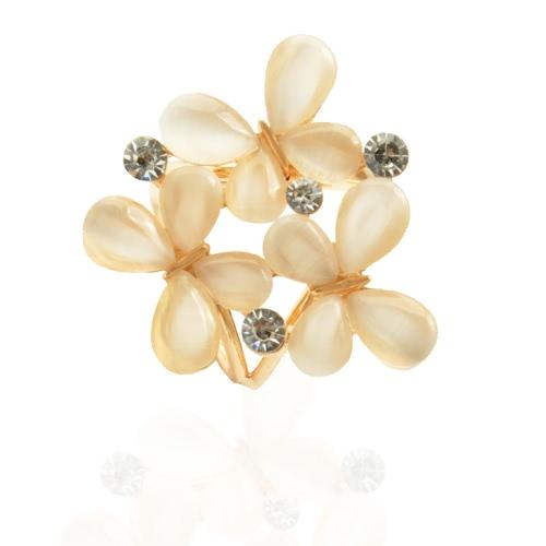 La manera del metal de zinc metálico mantón de la bufanda hebilla de broche de anillo joyería y accesorios para regalo de las mujeres