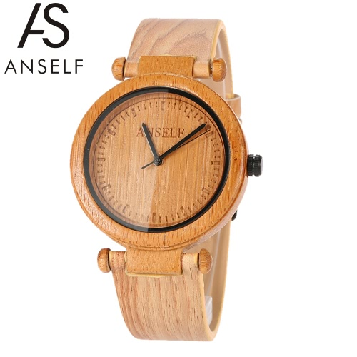 anself mode haute qualit en bambou naturel en bois wristwatch 3atm r sistant l 39 eau simplicit. Black Bedroom Furniture Sets. Home Design Ideas