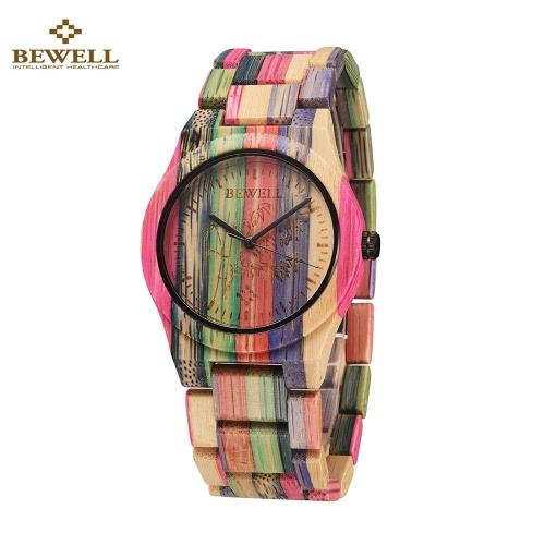 BEWELL hipoalergiczny Environmental friendly Drewniany Bamboo Watch Niepokalane klasą kwarcowy analogowy zegarek Unisex
