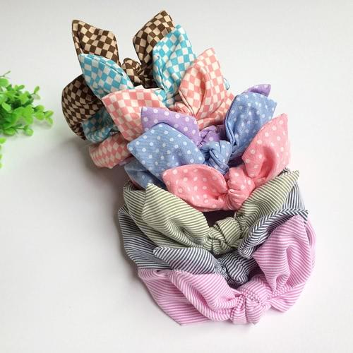 9 Pcs Moda Bebé bonito Acessórios de cabelo Headband Bow algodão de alta qualidade elástica para infantil do bebê