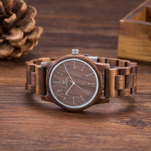 UWOOD Trendy Style Male Man's Brand Analog High Quality Wood Wooden Watch Quartz Business Wristwatch