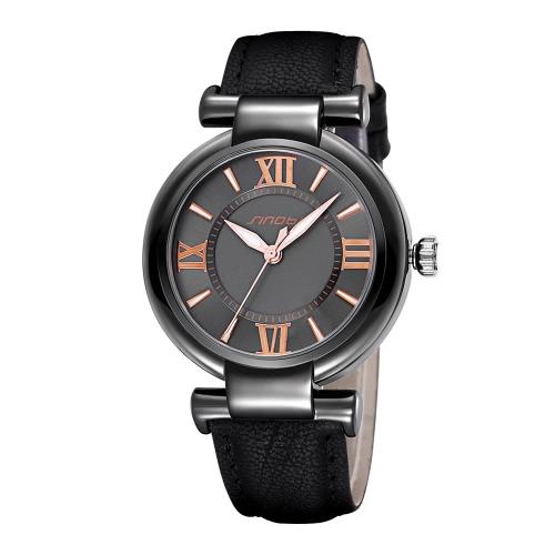 SINOBI Top nova marca de luxo de couro Women Watch Moda PU Ladies couro Quartz Vestido Relógios Número romano Relógios Casual
