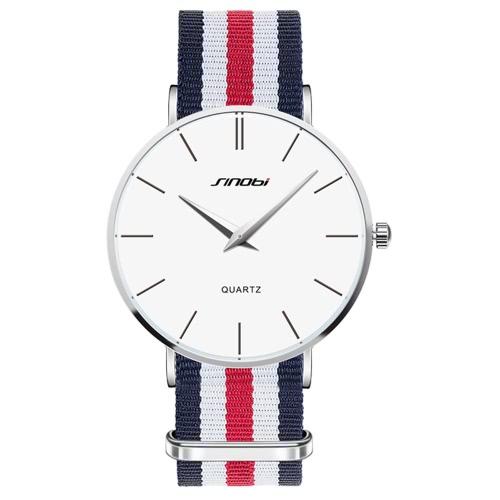 SINOBI 2016 Luxusmarke Casual Man Geschäfts-Kleid-Armbanduhr-30M Wasserdicht Quarz-Mann-Uhren
