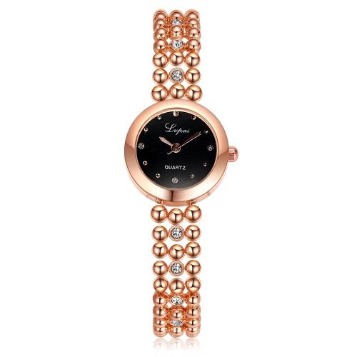 Lvpai neue Art und Weise Art-Marken-Armband-Ketten-Bügel-Armbanduhr-Quarz-Kleid-Frauen Luxuxdamen weiblich