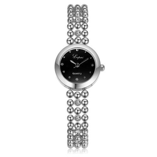 Pulsera de cadena de marca de relojes de estilo Lvpai nuevo de la manera de la correa del reloj de cuarzo mujeres se visten de lujo de las señoras Mujer