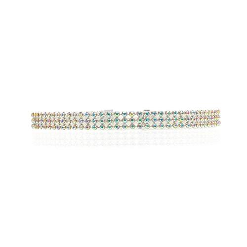Modo trasparente e colorata pendente di Chocker di cristallo del Collana enorme catena di gioielli Accessori per le donne del partito regalo Ragazze