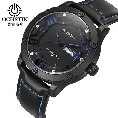 OCHSTIN relógio de couro de quartzo homens