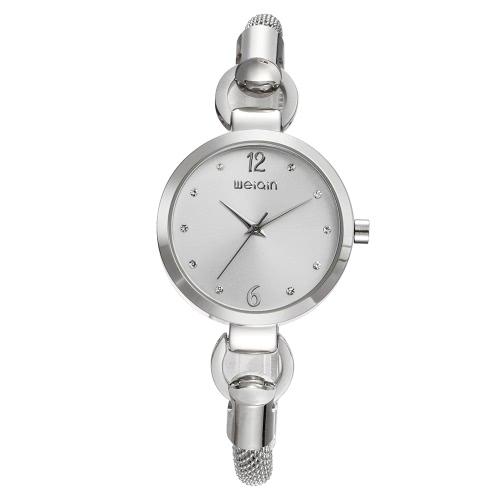 WEIQIN Art- und Weiseluxuxdiamant-Quarz-Frauen-Armband-Uhr-Wasser-Beweis-Edelstahl-Dame-beiläufige Armbanduhr Feminio Relogio