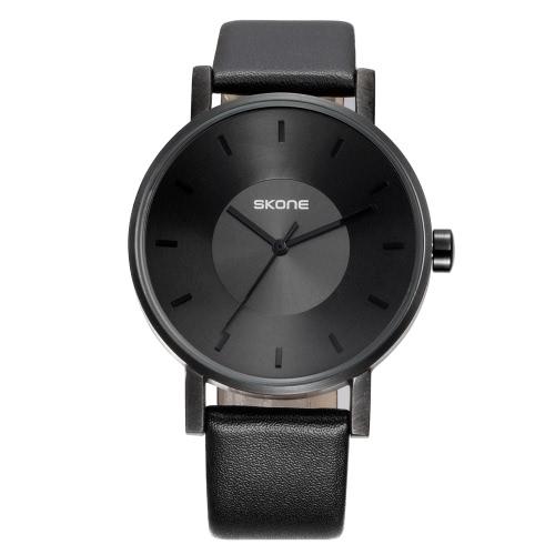 SKONE Art- und Weiseluxuxquarz-Paar-Uhren Wasser-Beweis PU-lederne Geliebt-Uhr-Mann-Frauen-beiläufige Armbanduhr