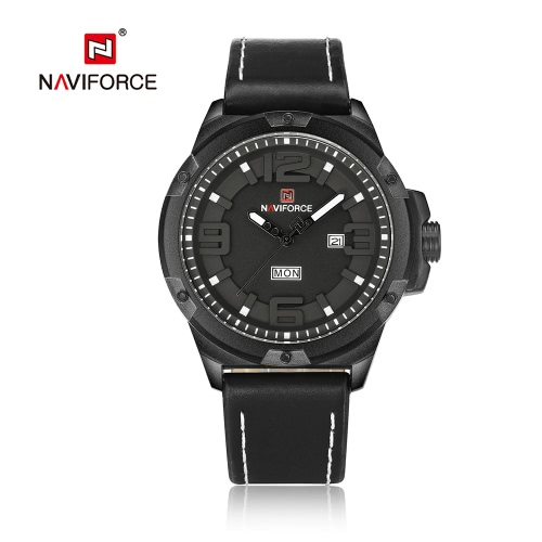 NAVIFORCE Luxury Dual Display Digital Quartz Men Watch Stainless Steel Luminous Sports Watch Chronograph Water-Proof Man Clock + Gift Box