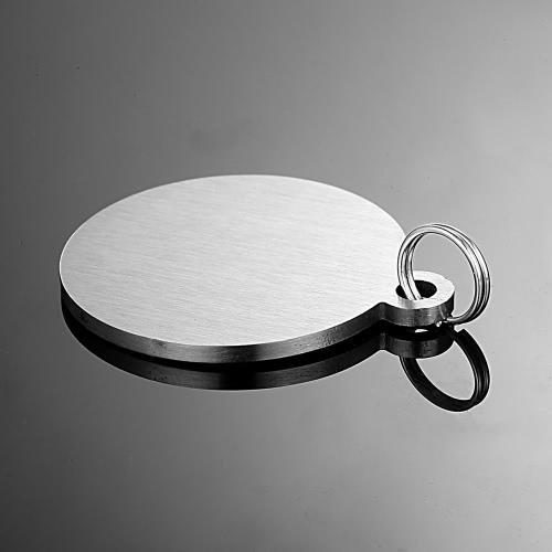 Image of Euramerican Retro Kleine runde Edelstahl Anhänger Halskette Schlüsselanhänger Schlüsselanhänger für Frauen Schmuck