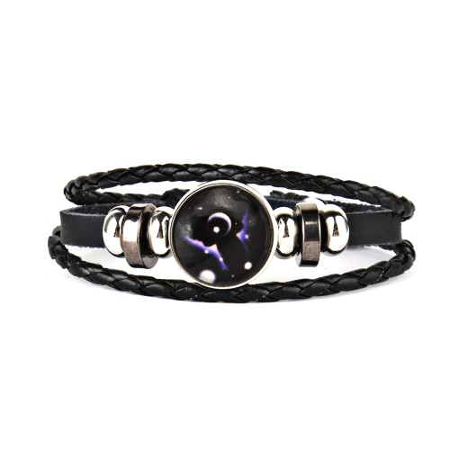 Beautiful Leather Woven Fantasy Dreamy Galaxy Stars Multi-layer Bracelet Wrist Decoration