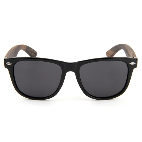 Fashion Wayfarer Óculos de sol de madeira natural com lentes polarizadas para homens e mulheres