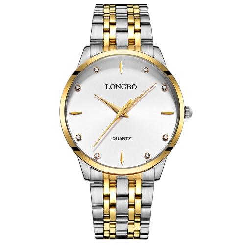 LONGBO Relojes de pulsera de lujo de acero inoxidable de diamantes reloj de  pulsera a prueba 9dbe3862df09