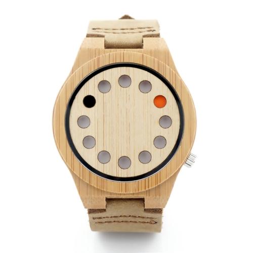BOBOBIRD mody przypadkowy zegarek bambusowy Unisex zegarek kwarcowy prawdziwy zegarek skórzany kobiet kobiet Relogio Musculino Feminino