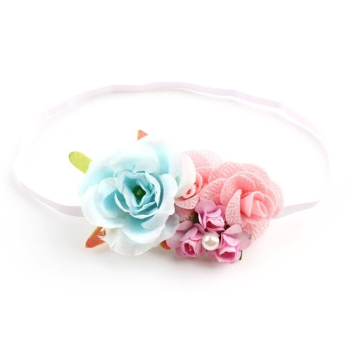 New Children Beautiful Hair Crown Flower Diadem Hairband per Neonate Spiaggia Foto Prop