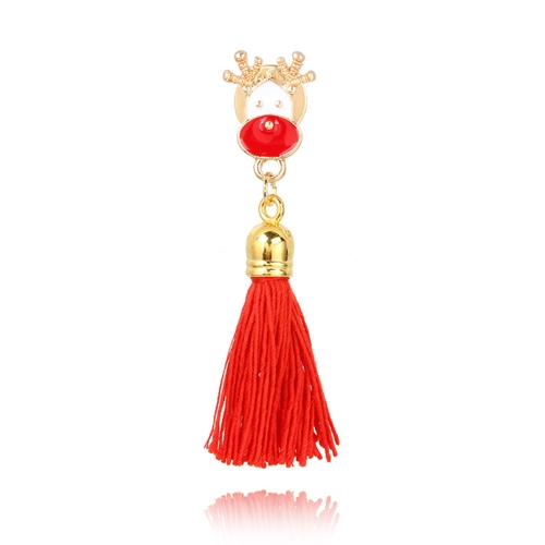 Fashion Lovely Brooch Santa Reindeer Tassel Tree Tassel Broches Jóias Presentes de ornamentos de Natal