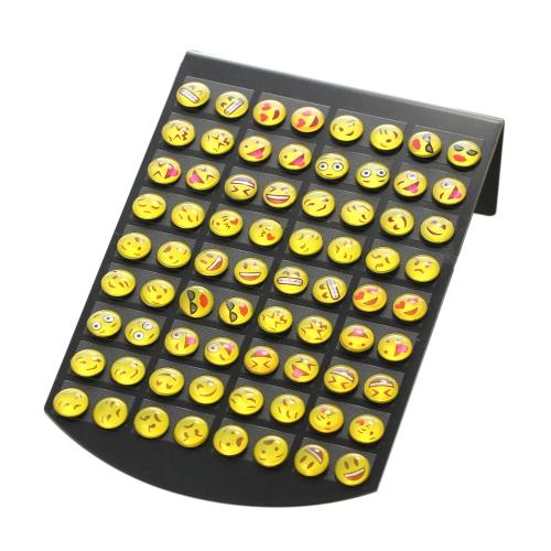 Mode Lustig 36 Paar Emoji Lächeln Ohrstecker Verschiedene Ausdruck Ohrstecker Frauen Persönlichkeit Schmuck